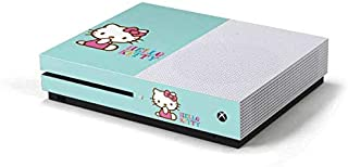 Skinit Decal Gaming Skin for Xbox One S Console - Officially Licensed Sanrio Hello Kitty Blue Background Design