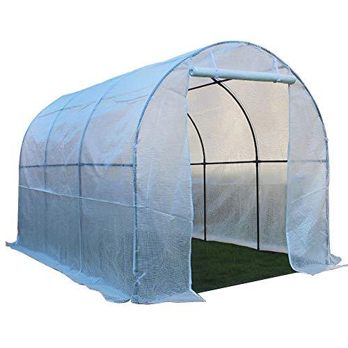 ERRU Invernadero Plantas de Exterior de Invernadero de Cultivo Blanco, Tienda de Túnel de Jardinería con Puerta con Cremallera, Toldo de Techo de Tomate Resistente (Size : S-152×120×152cm)