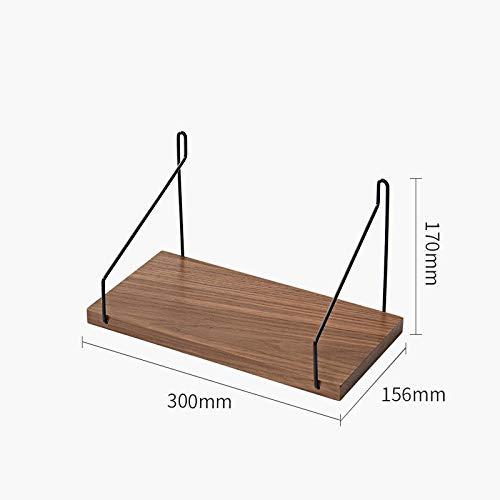Zwevende Planken, Houten Decoratieve, Zwevende Plank Tv-Componenten, Garage/Schuur/Magazijn/Vrijstaande Opslagplanken,Perzik Houten Plank-Walnoot_300 Mm