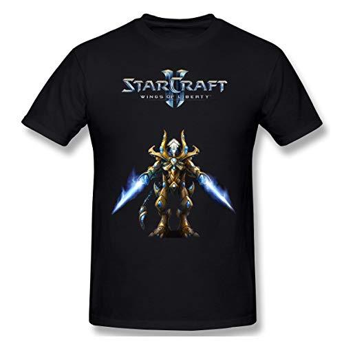 DeyAope Starcraft Herren Weich T Shirt Black 4XL