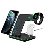 Intoval Wireless Charger,Wireless Charging Stand for Apple Watch Series 5 4 3 2 1/Airpods,Qi Fast Wireless...
