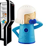 Angry Mama Microwave Cleaner Fridge Deodoriser Oven Steam Odor Absorber Freezer Odor Freshener Remover Kitchen Cleaning Tool (Blue)