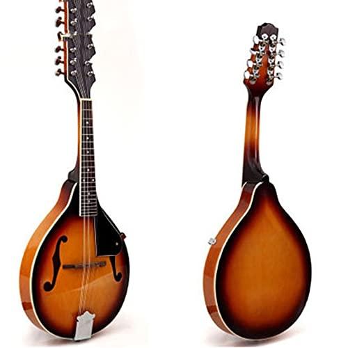 N / B Strumento Musicale mandolino, 8 Corde acustiche con sintonizzatore, Stringhe, Borsa, scelte, Suoni vibranti e Stringhe realistiche, principiante Pratica Strumento Musicale