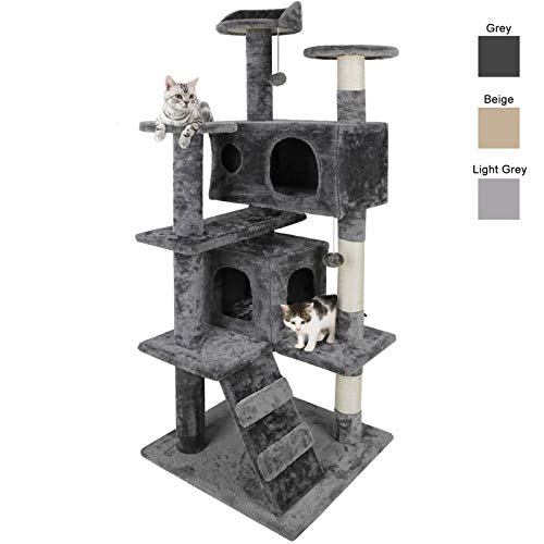 Nova Microdermabrasion 53 Inches Multi-Level Cat Tree Stand House Furniture Kittens Activity Tower...