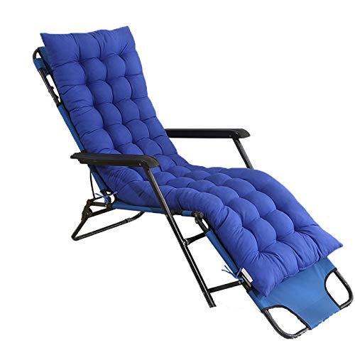 Heyjewels Auflagen für Gartenliegen, Einfarbig Sonnenliege Liegenauflage, Dick Polster Anti-Rutsch-Design Relax Sitzkissen für Schaukelstuhl