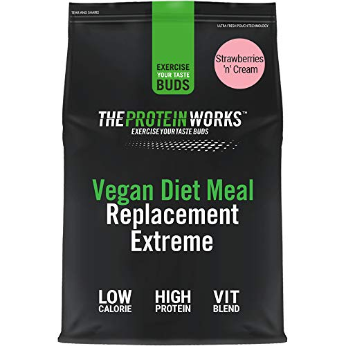 Vegan Diet Meal Replacement Extreme | Low Calorie, Weight Loss Shake | Essential Vitamins & Minerals | THE PROTEIN WORKS | Strawberries 'n' Cream | 2kg