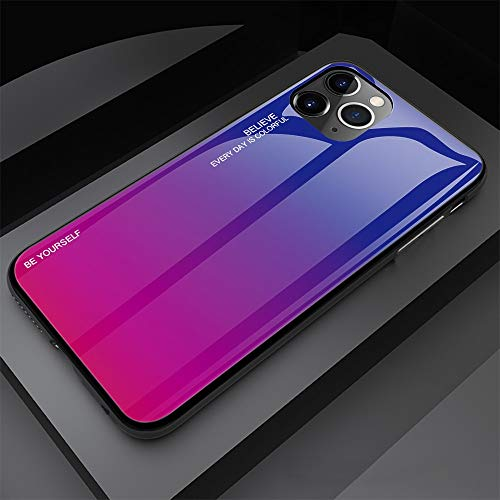 HELLOYOUNG Gradient Painted Case For iPhone 11 Case Tempered Glass Cover For iPhone 11 12 Pro MAX Mini Case For iPhone X XR XS 7 8 6s Plus (04)