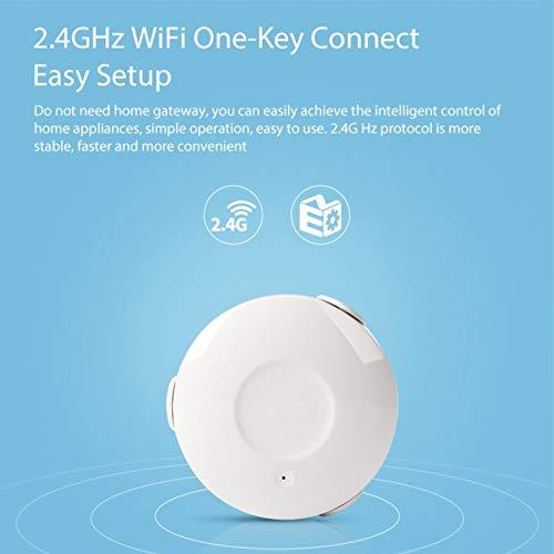 minifinker Sensor de Fugas de Agua, aplicación Smart Life Alertas instantáneas Detector de inundaciones Alerta de Alarma Inalámbrico para el hogar/oficinas Fugas de Agua