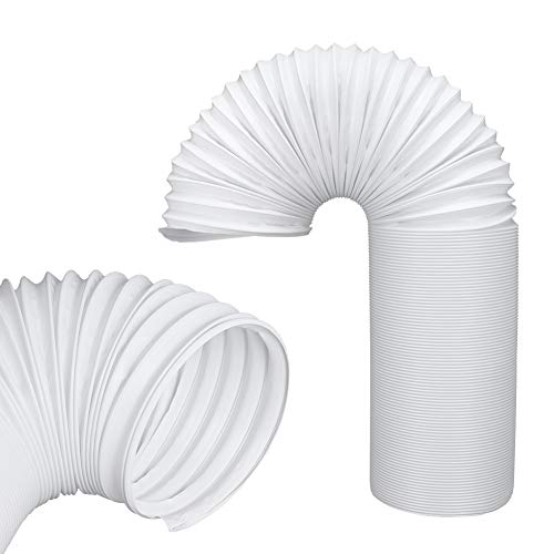 JOYOOO 2m PVC Tubo aire acondicionado Tubo de salida de aire para sistemas de aire acondicionado /counterclockwise installation direction(Ø13CM)