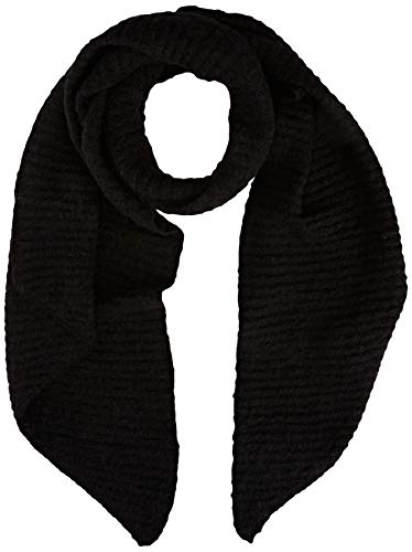 PIECES Damen PCPYRON Structured Long Scarf NOOS BC Schal, Black, ONE SIZE