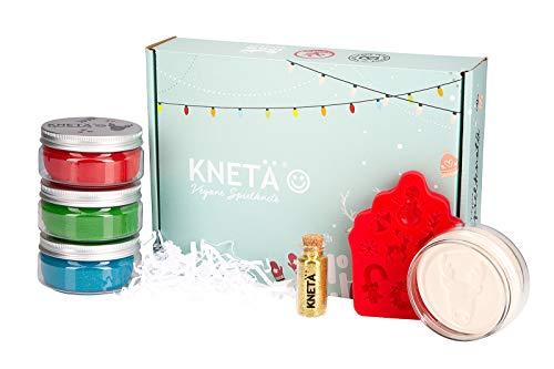 KNETÄ Knete Set Geschenkideen Weihnachten I Kleinkinderknete I natürliche Einsatzstoffe, Glitzer Knete (4er Set *Special*, Weihnachten)