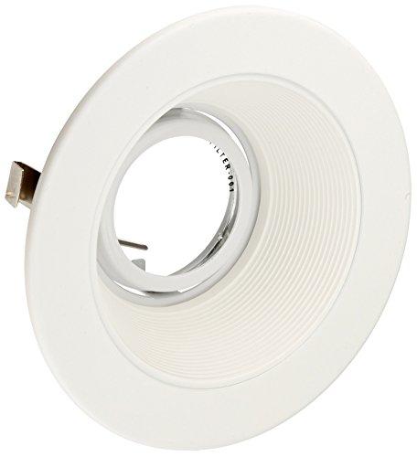 "Elco Lighting EL1493W 4"" Low Voltage Adjustable Step Baffle Trim,White"