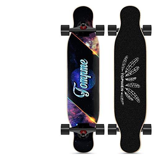 GYX Longboard Dance Board für Erwachsene und Jugendliche mit 4 Rädern Skateboard [Chinese Dance Board] Star Trek