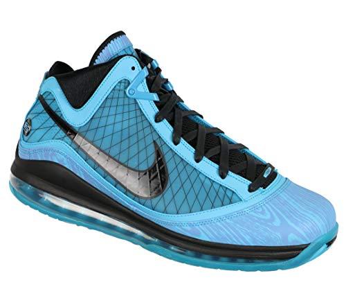Nike Herren Lebron Vii Basketballschuh, Chlorine Blue/Black, 42.5 EU