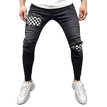 distressed zipper jeans