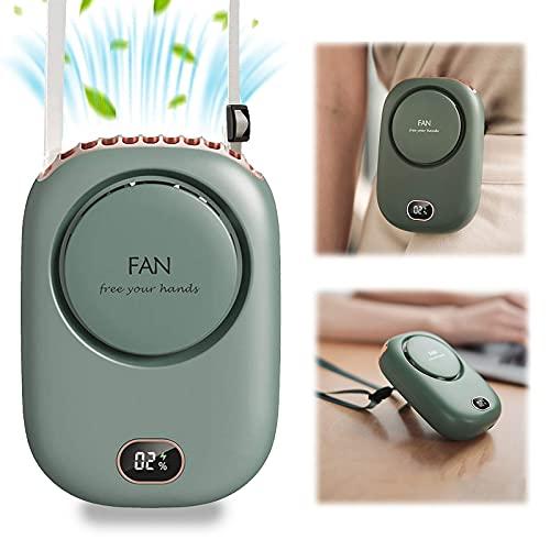 auvstar Mini Ventilador USB Portátil,Ventiladores de Cuello de Mano Portátil con Cuerda,Ventilador...