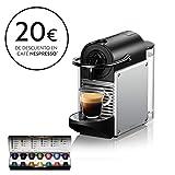 Nespresso DeLonghi Pixie EN124.S Cafetera monodosis cápsulas, 19 Bares, depósito Agua 0.7 L, Apagado automático, 1260 W, 0.7 litros, Acero, Plata