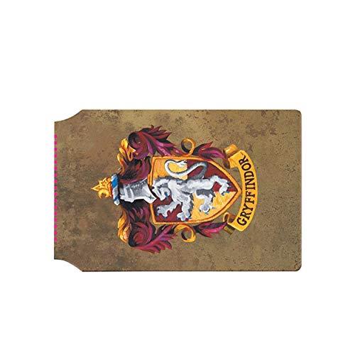 HARRY POTTER Official - Tarjetero con diseño de Gryffindor (Talla Única/Marrón/Amarillo)