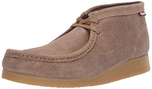 Clarks Men's Stinson Hi Fashion Boot, Taupe Distressed Suede, 12 M US