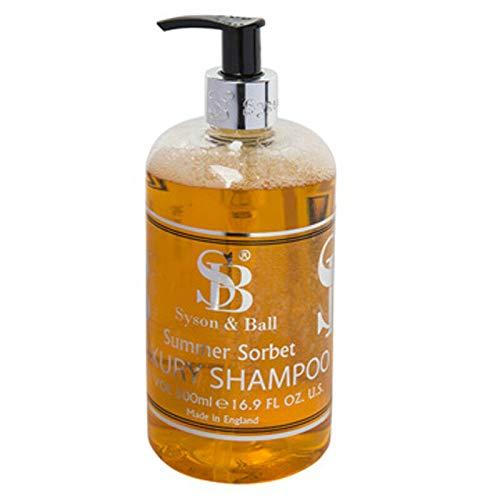 We Can Source It Ltd – Syson & Ball Acondicionador, champú, Lavado de Manos, Gel de Cuerpo y loción Corporal – Botella dispensadora de 500 ml, Summer Sorbet - Shampoo