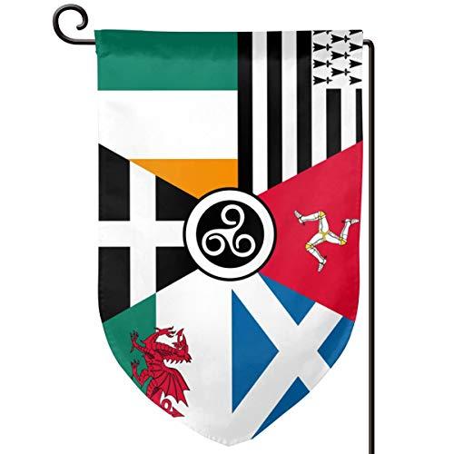 AiKSA Celtic Nations Flag Garden Flag Courtyard Outdoor Decoration Flag Flag 12.5 X 18