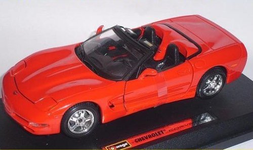 Bburago Chevrolet Chevy Corvette C5 C 5 Rot Red Cabrio Cabriolet 1/24 Burago Modellauto Modell Auto