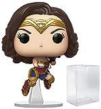 Wonder Woman Flying Pop #322 Pop Heroes: Wonder Woman 84 Vinyl Figure (Bundled with EcoTek Protector...