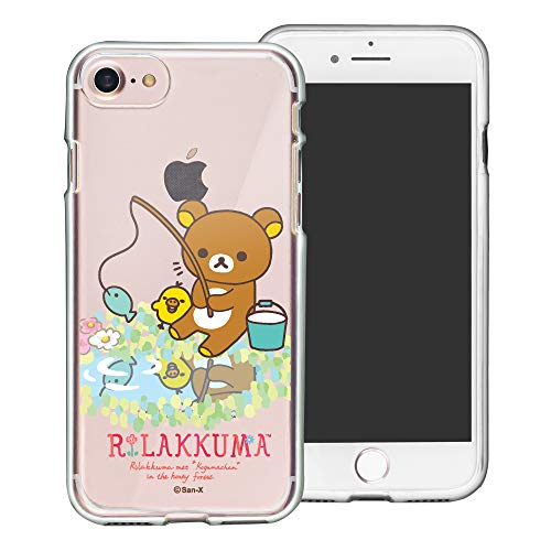 Compatible with iPhone 6S / iPhone 6 Case (4.7inch) Rilakkuma Clear TPU Cute Soft Jelly Cover - Rilakkuma Fishing