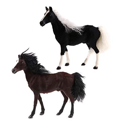 dailymall Modelo de de Animal de Juguete Akhal-Teke de 2 Uds.