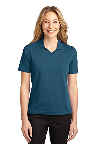 Port Authority Ladies Rapid Dry Polo Shirt, XL, Moroccan Blue