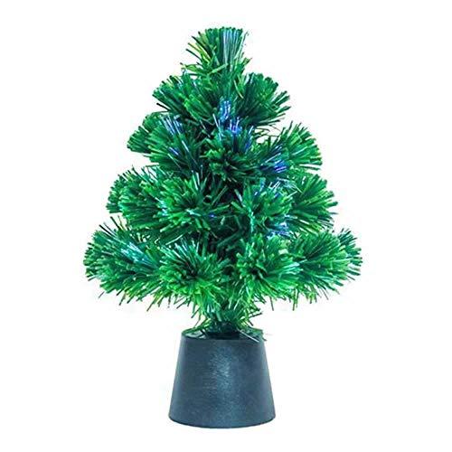 albero di natale 30 cm Gadget Juice - Mini albero di Natale con luci di Natale a fibra ottica