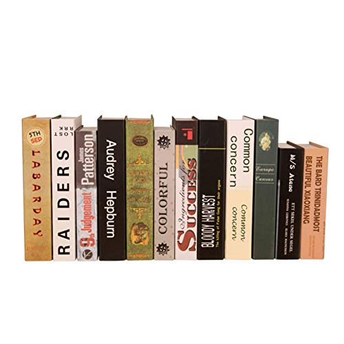 Tavot 6 Books Bookcase Photography Prop Decoration - Simulated Book Decoration Display Ornament - Book Home Decoration Household Daily Holiday Decoration