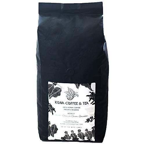 100% Kona Coffee (5LB Bag-DARK ROAST) FIRST PLACE WINNER 2018 Kona Coffee Cultural Festival's Crown Division • Single Estate • 2-Day FedEx (DARK)