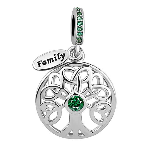 Lifequeen Heart Love Family Tree of Life Charm Mom Wife Grandma Forever Celtic Knot Charms Bracelets (Family Tree-1)