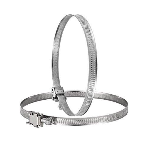 Succsale - Edelstahl Schlauch Clip Verstellbarer Worm Drive Schlauch Klemme 125mm-für Inline Rohrventilator 2 Stück (
