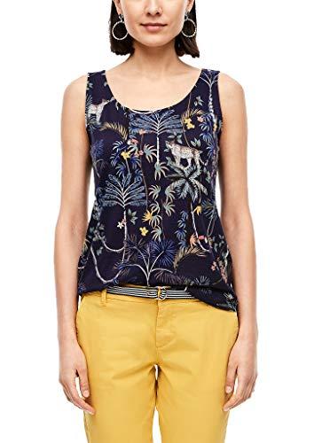s.Oliver RED Label Damen Top mit Rückenausschnitt Dark Blue floral AOP 40