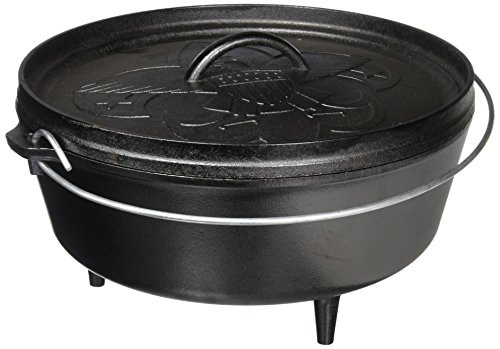 of camp chef coal stoves dec 2021 theres one clear winner Lodge Boy Scouts of America Cast Iron Camp Dutch Oven, Pre-Seasoned, 6-Quart