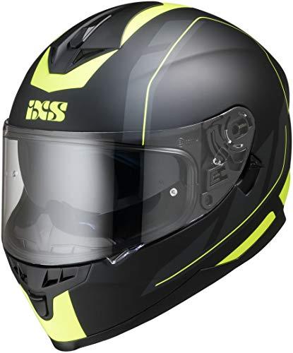 IXS X14070-M35-XL Casco Moto , Multicolore (Nero-Giallo Fluo Opaco), XL