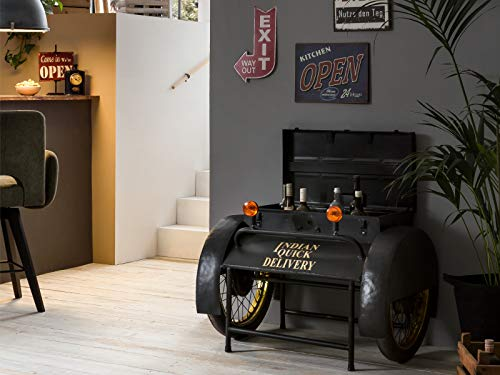 Woodkings® Bar Delivery Car Vintage Design Bartisch Barregal Barschrank Beistelltisch Weinregal Herrenzimmer Büro Partykeller