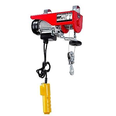 ARKSEN Overhead Electric Motor Hoist Crane Lift Garage Winch w/ Remote Control Capacity
