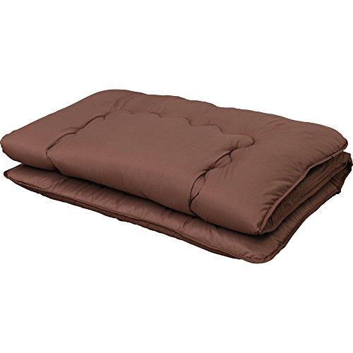 アイリスプラザ 敷布団 シングル 3層構造 厚さ10cm 固綿入り 軽量 低ホルムアルデヒド ブラウン