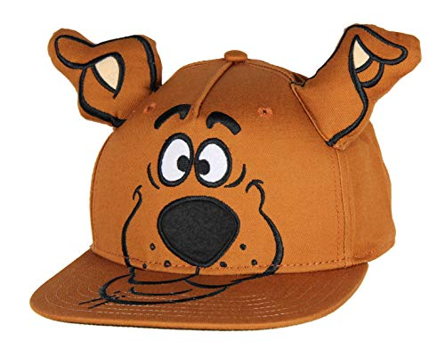 Scooby Doo Embroidered Character Face Adult Adjustable Snapback Hat Cap with 3D Ears Brown