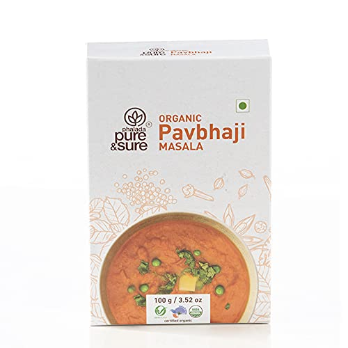 Pure & Sure Organic Pav Bhaji Masala Powder | Delicious & Aromatic Pav Bhaji Masala Mix | Curry Masala Powder, 100g