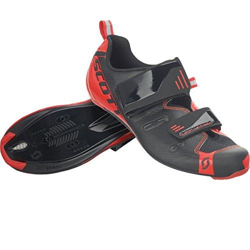 Scott Tri Pro Triathlon bicicleta guantes negro/rojo 2018, hombre, black/neon red gloss, 44