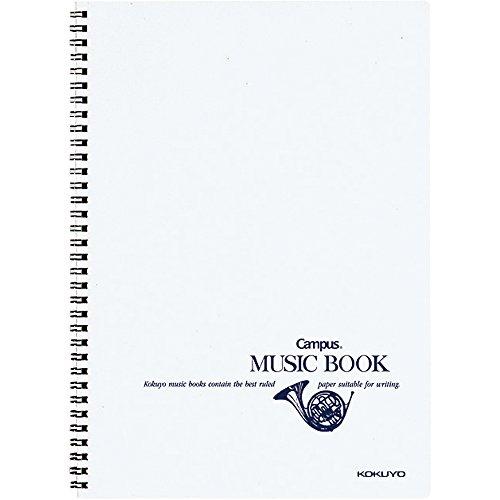 コクヨ ノート キャンパスノート 音楽帳 ツインリングとじ A4 五線譜 12段 オン-T10