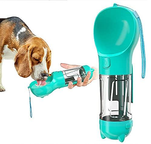 MIGRES Bottiglia d'Acqua per Cani Borraccia Cani 300 ml a Prova di Perdite Portatile Dispenser Acqua di Cane con Alimentazione per Animali Domestici Escursioni Viaggi plastica di qualità Alimentare