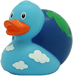 Lilalu 8.5 cm World Globe Duck Toy (Multi-Colour)