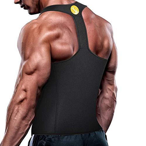 Hotsel Chaleco de entrenamiento de cintura para hombre, chaleco de sudor, neopreno suave y cómodo, adecuado para correr, fitness, culturismo y masaje de salud, fuerte durante el entrenamiento