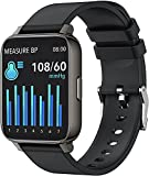 yussa Smart Watch   Latest Generation 2021   Blood Pressure Monitor (No Phone Required)  Blood Oxygen SpO2   Heart Rate   Sleep Monitor   IP67 Waterproof   Fitness Tracker   for Women and Men (Black)