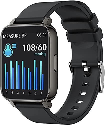 yussa Reloj inteligente   última generación 2021   Monitor de presión arterial (no requiere teléfono)   oxígeno en sangre SpO2   frecuencia cardíaca   monitor de sueño  ...